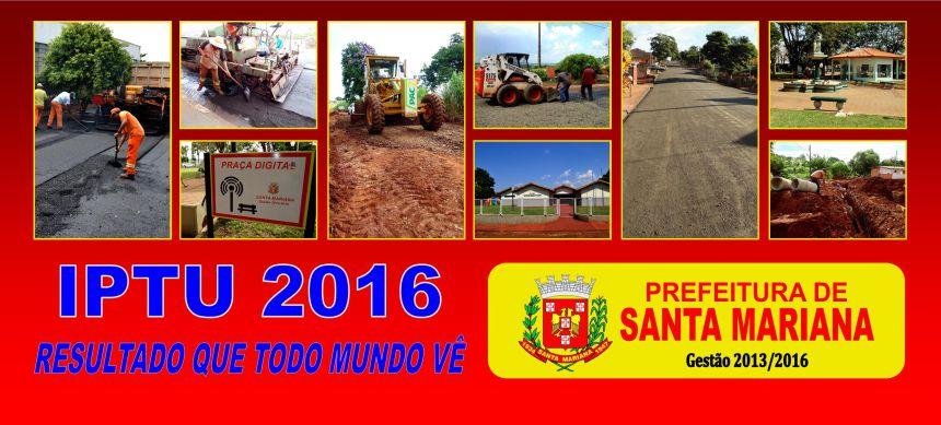 RETIRADA CARNÊ DE IPTU 2016 - ONLINE