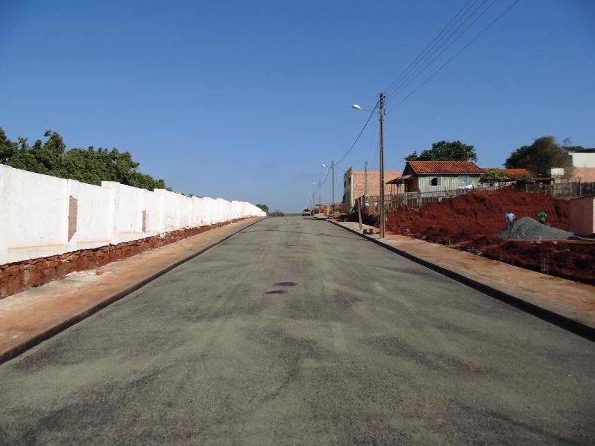 Pavimentação Asfáltica TST, meio fio, sarjeta e calçadas - Vila Nova