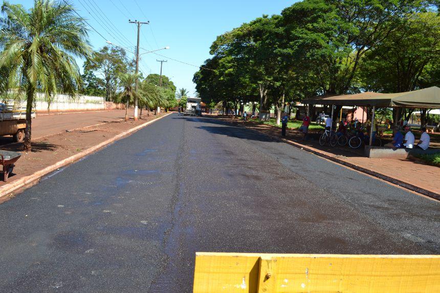 Micro pavimentação 32 mil metros quadrados - Distrito de Panema