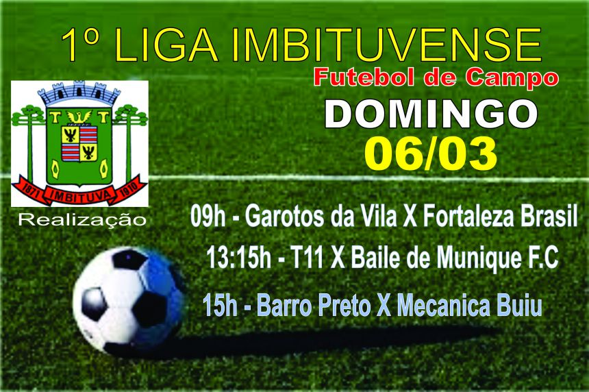Jogos de domingo - Futebol de Campo