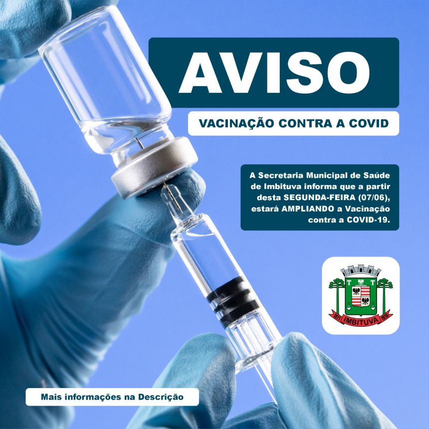 Ampliação da Faixa Etária de Vacinação - Profissionais da Educação - 18 anos