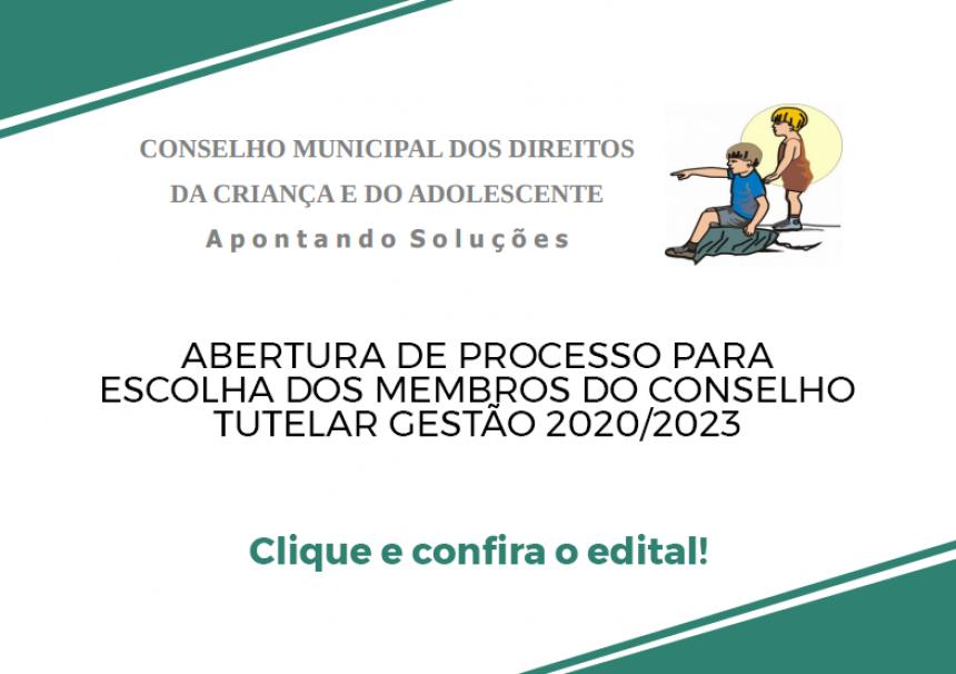 Editais para Escolha dos Membros do Conselho Tutelar