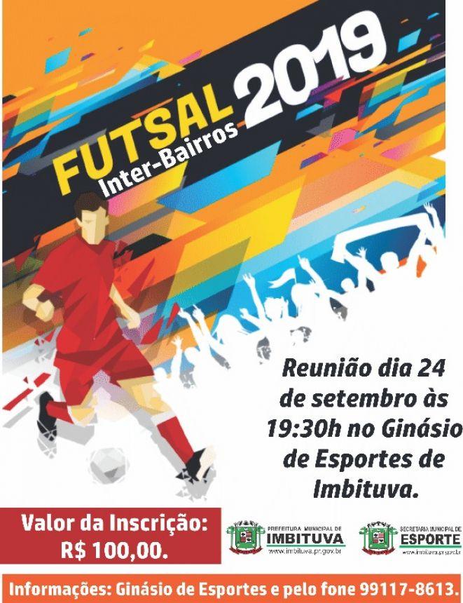 Divisão das localidades e bairros do Campeonato Inter-Bairros de Futsal