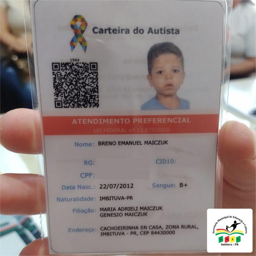 Carteira de Identificação da Pessoa com Transtorno do Espectro Autista.