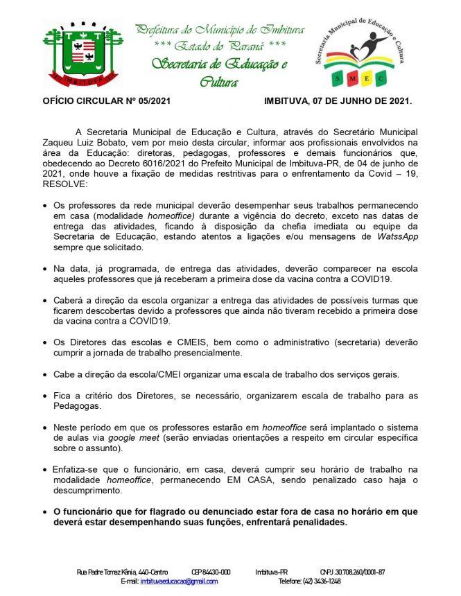 Sobre o trabalho dos profissionais da Educação da rede municipal.