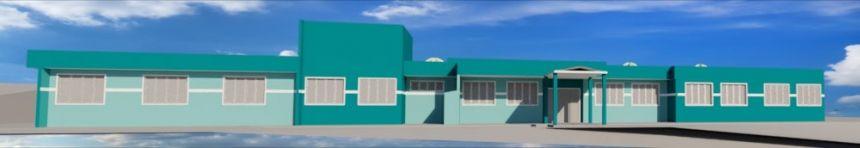 Construção da nova escola rural na localidade de Mato Branco de Baixo.