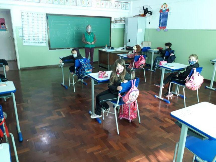 O protocolo do retorno às aulas.
