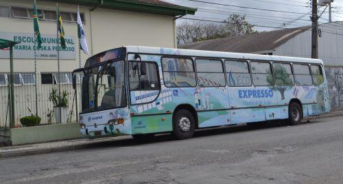 Eco Expresso Sanepar visita a Escola Maria Boska Pedroso