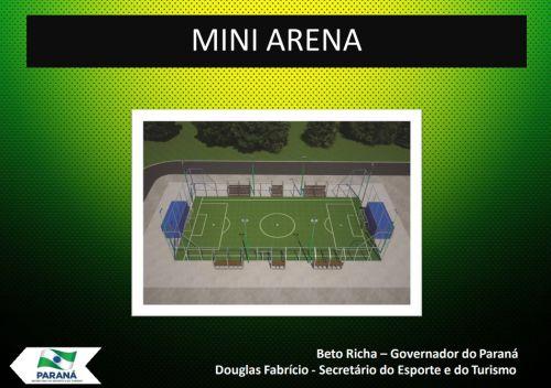 Mini arena será construída na Vila Nova.