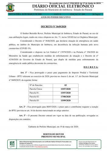 Prefeitura prorroga prazo de vencimento do IPTU para 15 de julho