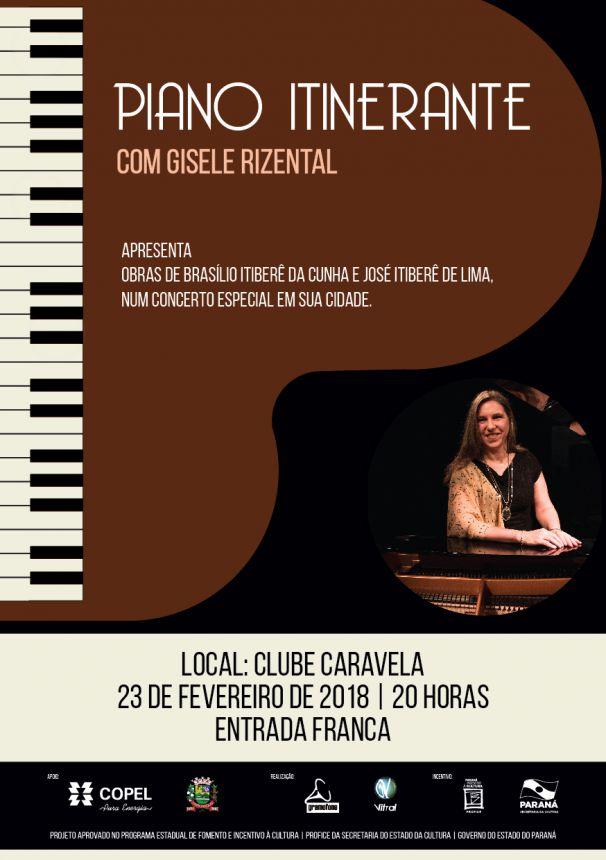 Carlópolis recebe concerto de piano gratuito em fevereiro