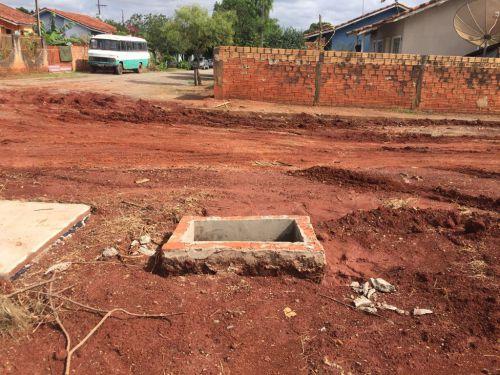 Pavimentação com blocos de concreto sextavados