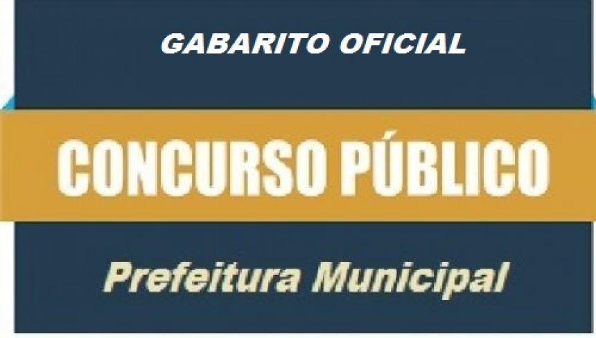 EDITAL DE CONCURSO PÚBLICO Nº 001/2019 - D - GABARITO OFICIAL