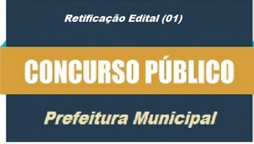 EDITAL DE CONCURSO PÚBLICO Nº 001/2019 - RETIFICAÇÃO 1