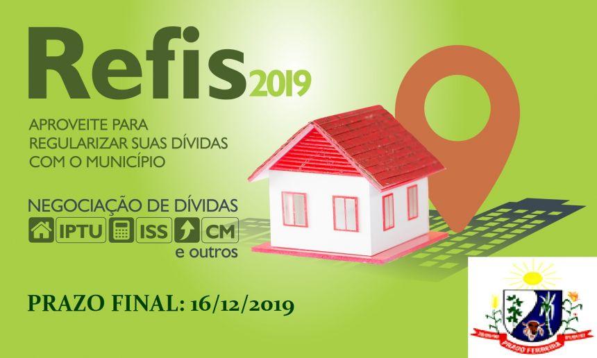Venha Regularizar sua dívida com o Município - REFIS 2019 - Programa de Recuperação Fiscal