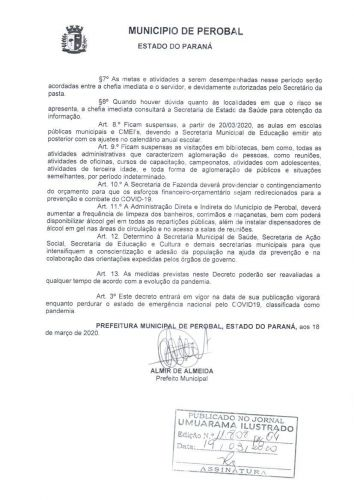 DECRETO    11/2020 ORIENTAÇÃO COVID - 19
