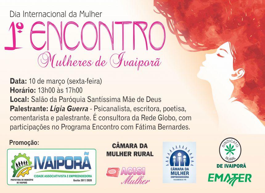 O evento acontecerá na sexta-feira, dia 10 de março, a partir das 13h00