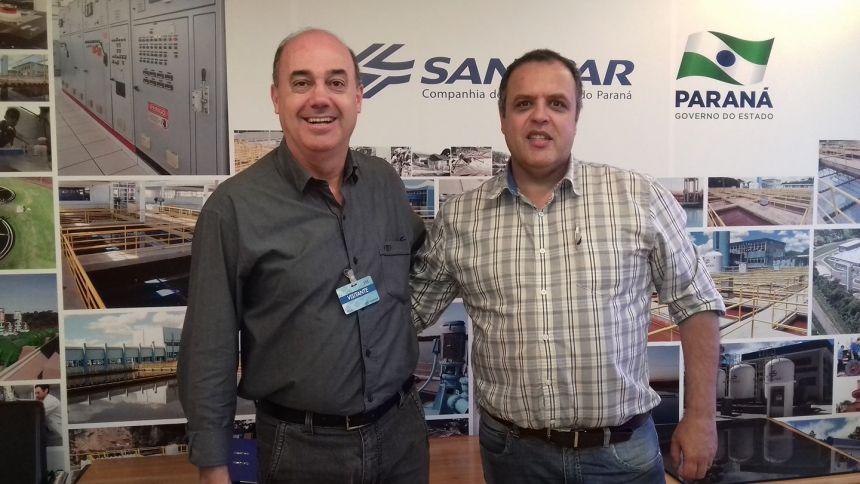 Miguel Amaral é recebido na Sanepar, em Curitiba