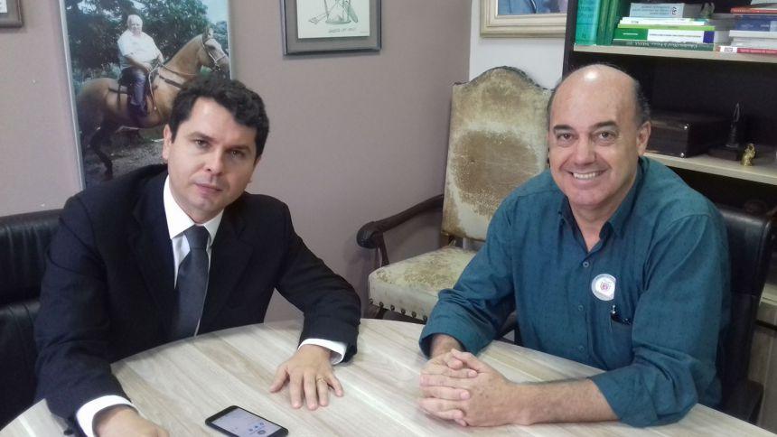 Deputado Alexandre Curi recebe prefeito de Ivaiporã