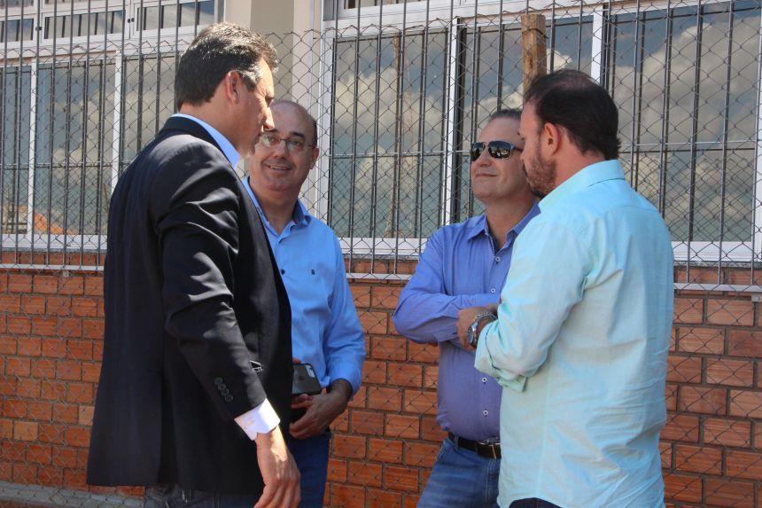 Durante visita ao Campus da UEM, Miguel Amaral, Sérgio Souza, Gustavo Dante e Carlos Gil falam sobre o desenvolvimento de Ivaiporã nas mais diversas áreas.