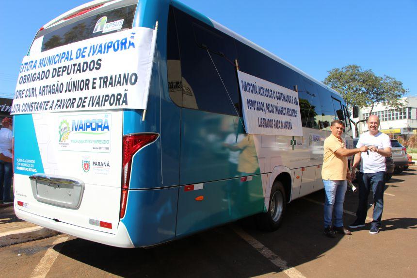 Vice-prefeito Ilson Gagliano e prefeito Miguel Amaral comentam aquisição em prol dos pacientes do município
