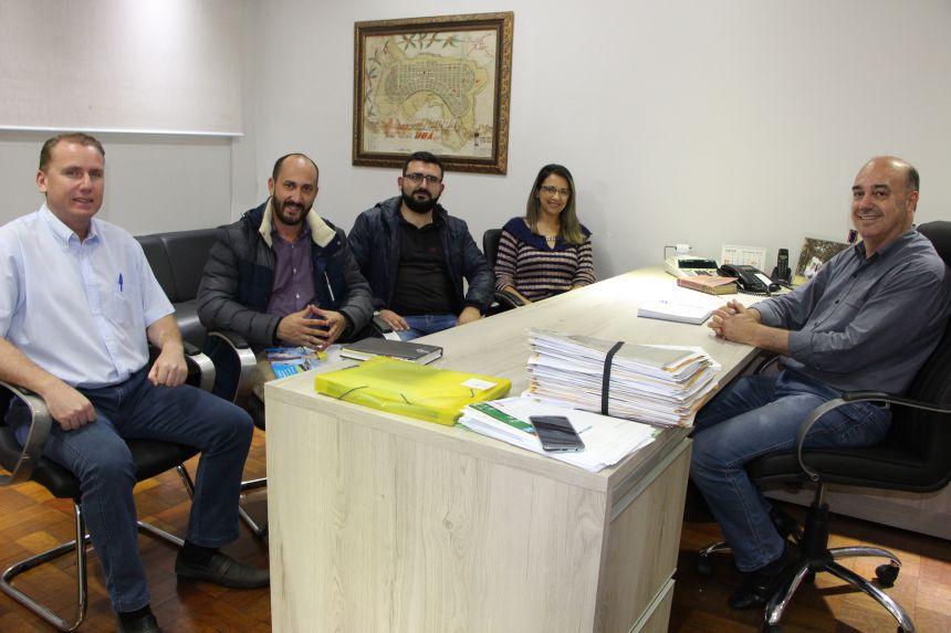Marcus Wielewski, Adriano Teixeira, Júnior Teixeira e Rosana Pagé falam sobre investimentos no Parque Industrial
