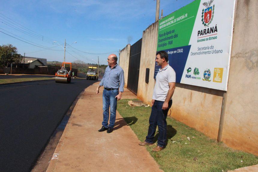 Prefeitura de Ivaiporã executa mais de 5 mil metros quadrados de asfalto na Avenida Maranhão