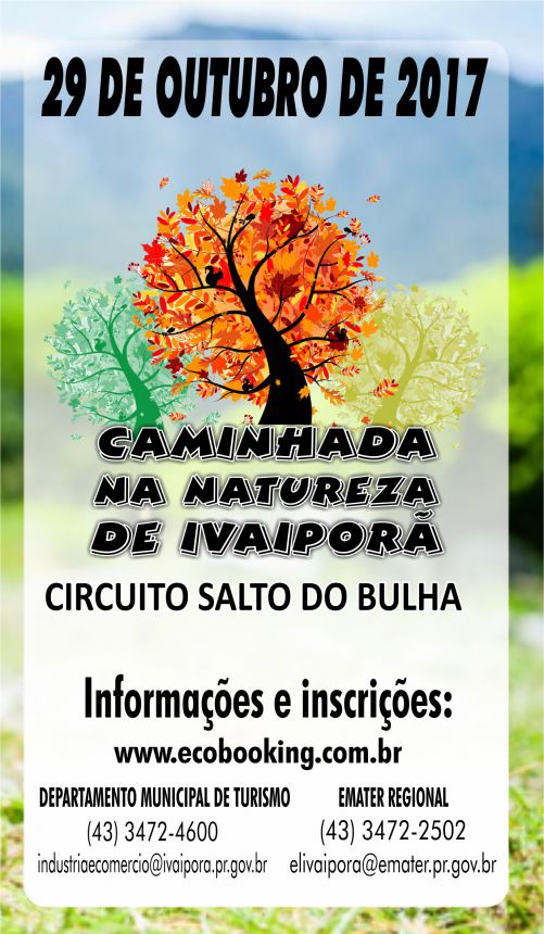 Prefeitura de Ivaiporã realizará Caminhada na Natureza dia 29 outubro