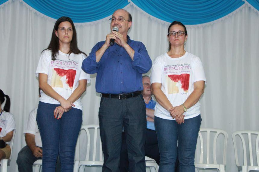 Amanda Amaral, prefeito Miguel Amaral e a primeira dama Nair Amaral