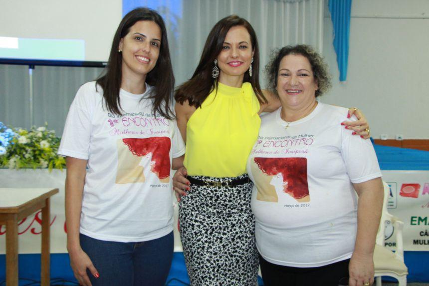 Amanda Rafael, Lígia Guerra e Sirlene Marynowski (presidente da Câmara da Mulher Rural)