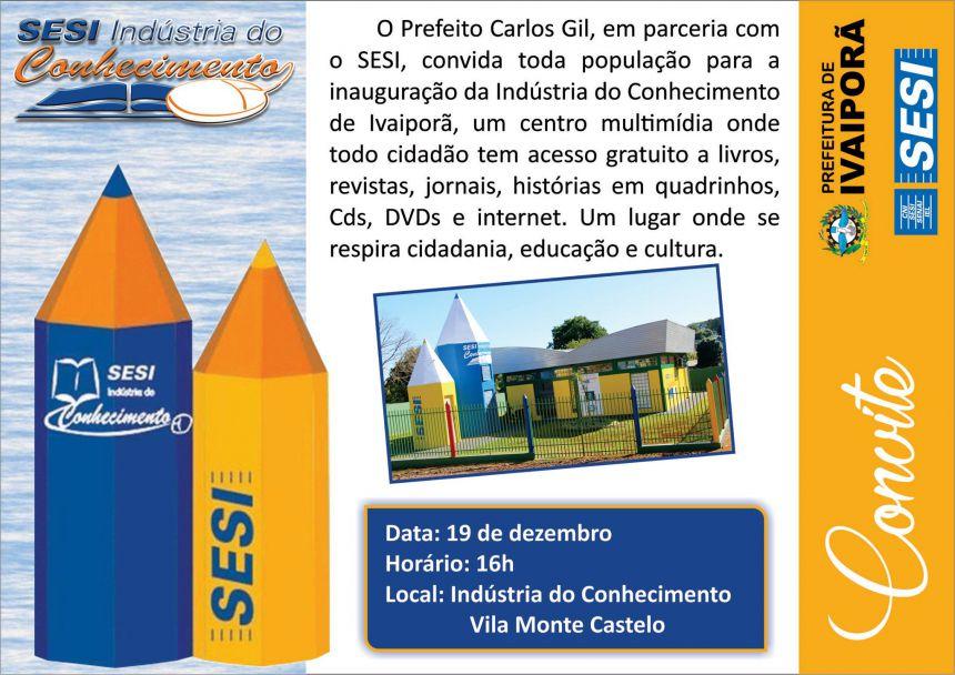 E vem aí mais uma inauguração! É a Prefeitura de Ivaiporã levando informação gratuita para população