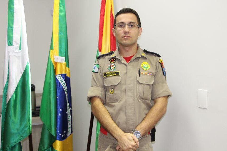 1º tenente Alexandre Mançano Cavalca irá assumir comando do Corpo de Bombeiros