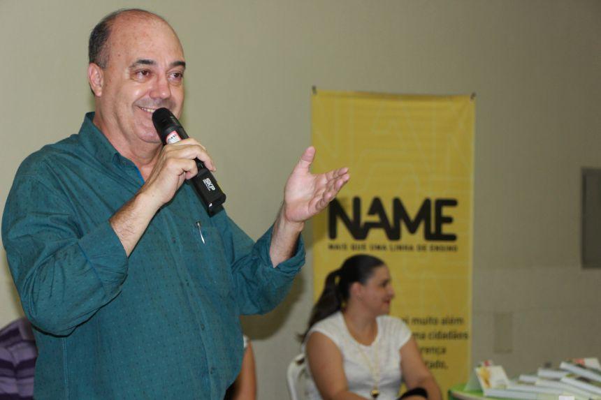 Prefeito Miguel Amaral dá as boas-vindas aos professores