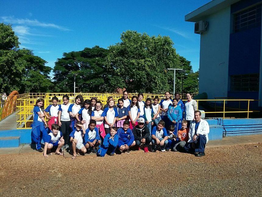 Crianças visitam Sanepar de Ivaiporã