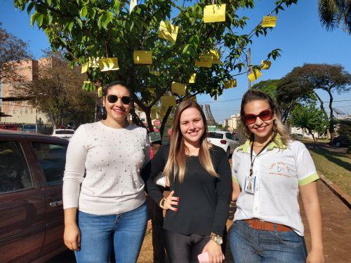 Viviane Silva, Rebeka Schawarski e Jessica Menegaldo decoram as ?árvores da vida? com mensagens
