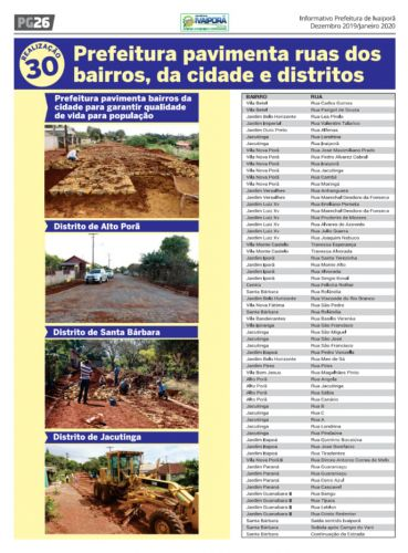 Prefeitura de Ivaiporã presta contas de obras e ações realizadas em 2018 e 2019