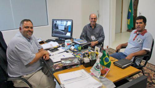 Artagão Júnior recebe Miguel Amaral e Adalto Elias Pereira