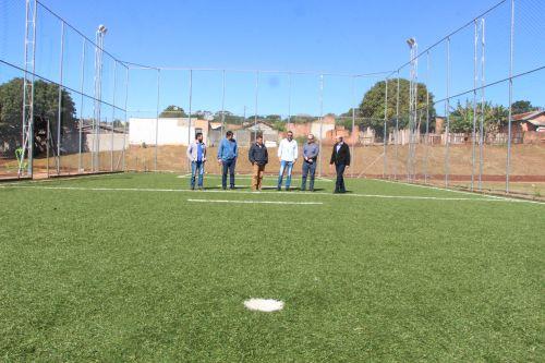 Bruno Montoro, Carlos Ramos, Ilson Gagliano, André Abdo, Rodolfo Purpur Júnior e Miguel Amaral visitam Meu Campinho
