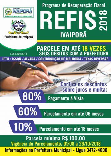 Prefeitura de Ivaiporã lança Refis para parcelamento de débitos
