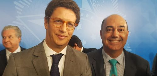 Prefeito Miguel Amaral encontra-se com o ministro do Meio Ambiente, Ricardo Salles, em Brasília