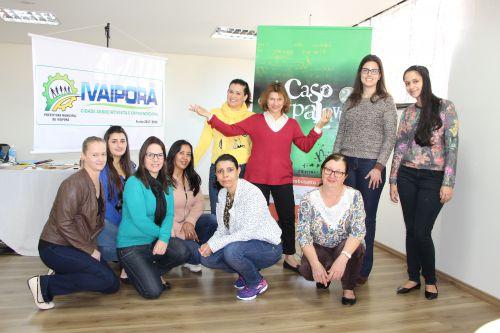 Cléo Busatto e Amanda Rafael agradecem às inscritas pela participação