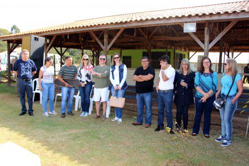 Miguel Amaral, Adalto Pereira, Jaime Sacco e membro da Federação de Skate do Paraná