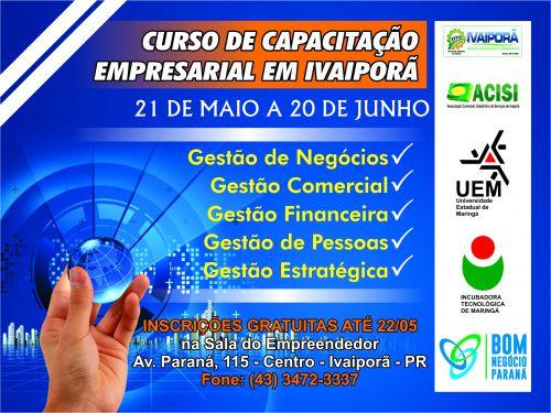 Bom Negócio Paraná abre inscrições para curso presencial