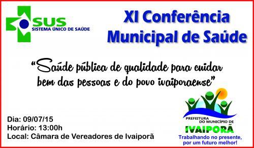 XI Conferência Municipal de Saúde