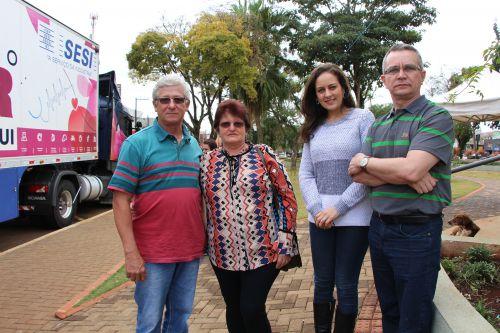 Nelseu Garcia e Albertina Garcia fazem exames e agradecem a Marcelle Mareze e Claudeney Martins