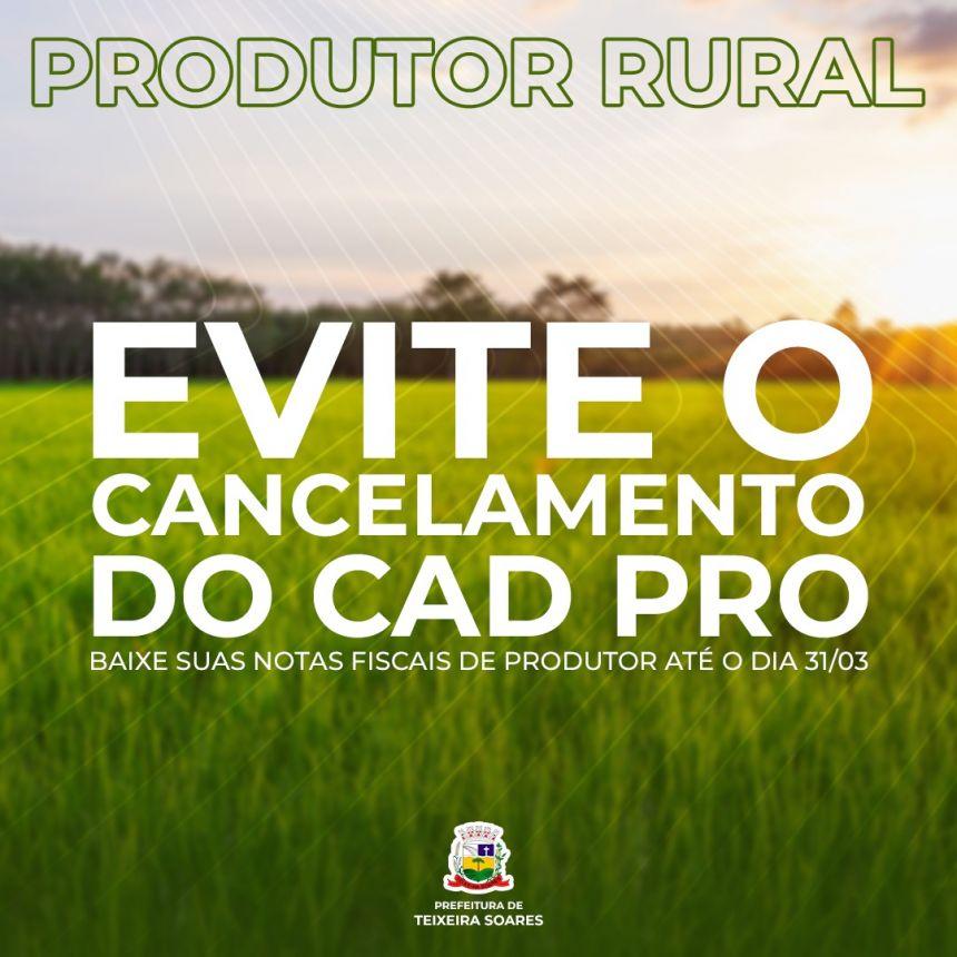 ATENÇÃO Produtor Rural