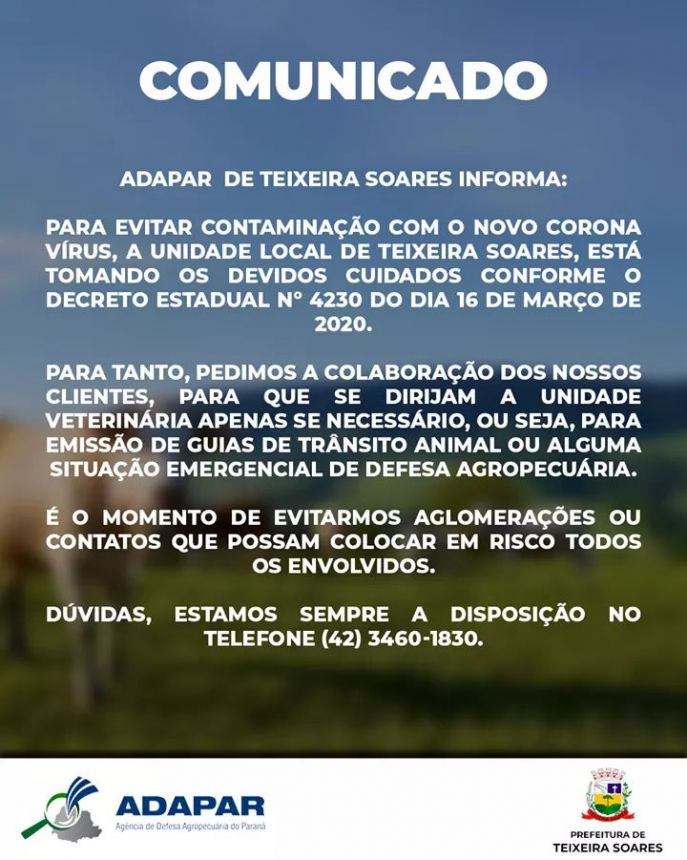 ADAPAR T. Soares somente atendimento URGENTE