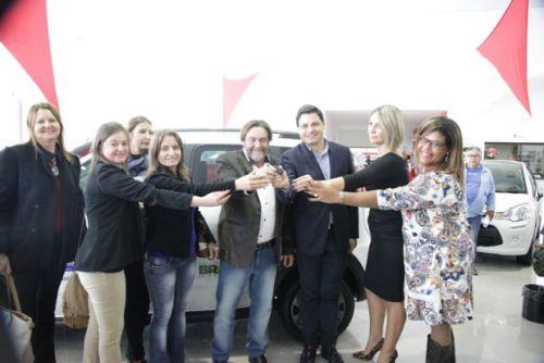 Prefeito Muller, Deputado Sandro Alex e Membros do Conselho Tutelar