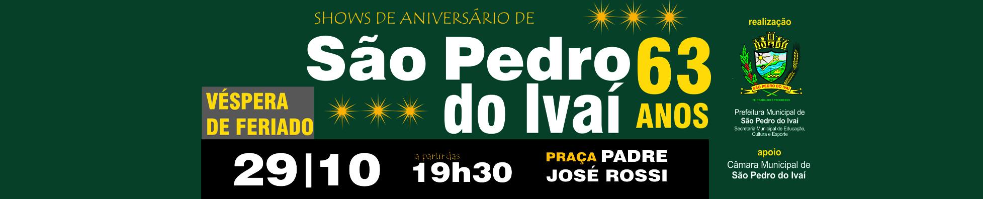 Aniversário de São Pedro do Ivaí 63 anos