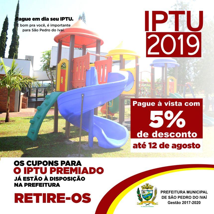 IPTU com 5% de desconto pode ser pago até dia 12 de agosto